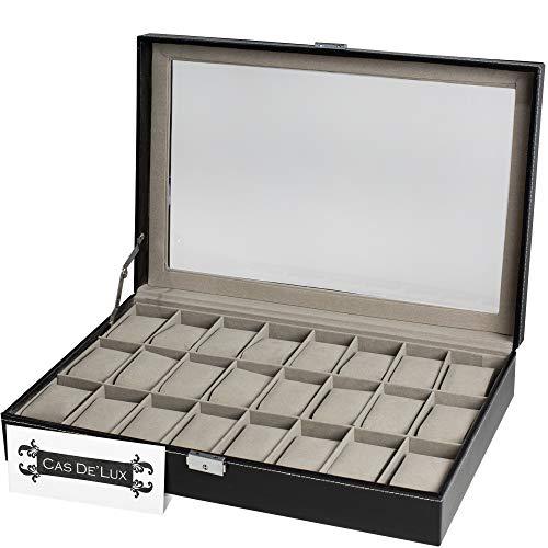 Watch Box Organizer Pillow Case 24 Slot Display Cases
