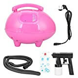 Professional Spray Tan Machine Kit Sunless Spray Tan Airbrush Tanning Solution Machine Professional Black Tanning System for Home Salon Use Rose Red(US Plug)