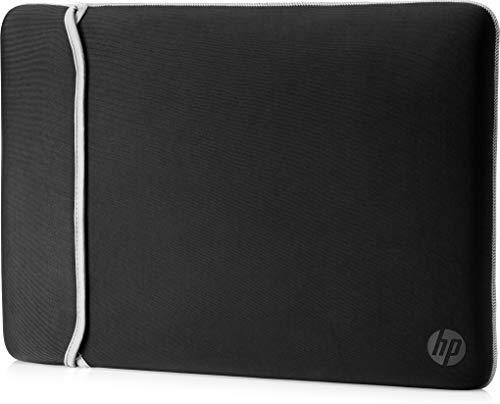 HP Sleeve (2UF61AA) wendbare Schutzhülle für Laptops, Tablets (Neopren, 14 Zoll) schwarz / silber