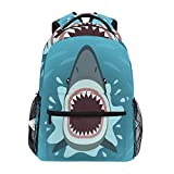 ALAZA Sea Ocean Shark Fish Backpack Daypack College School Travel Shoulder Bag