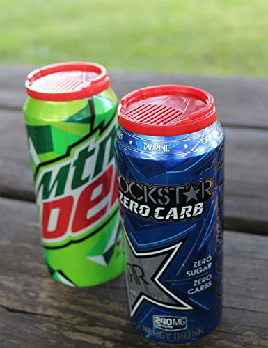 Anti-Bee & Bug Soda Beer Can Saver   Protect your Drink   Keep your Beverage Insect Free (4-Pack)