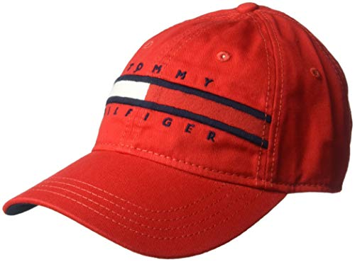 Tommy Hilfiger Men's Dad Hat Avery, Racing red, O/S