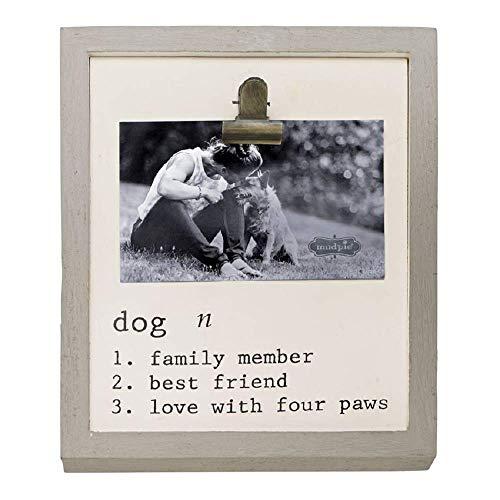 Mud Pie definición, marco de clip para carpeta de perro