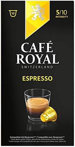 Café Royal Espresso, Café, Café, Cápsulas de Café Tostado, Compatible con Nespresso, 10Cápsulas