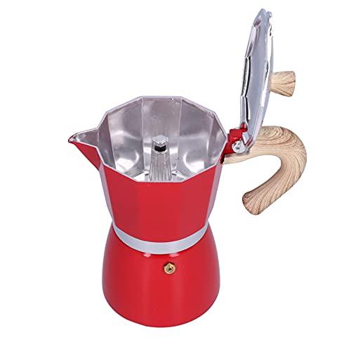 KAKAKE Cafetera, cafetera ergonómica con diseño de Mango fácil de Usar para Oficina para café(Red)