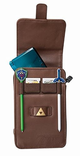 PowerA The Legend of Zelda Adventurer's Pouch - Nintendo 3DS/ Wii GameCube - Brown