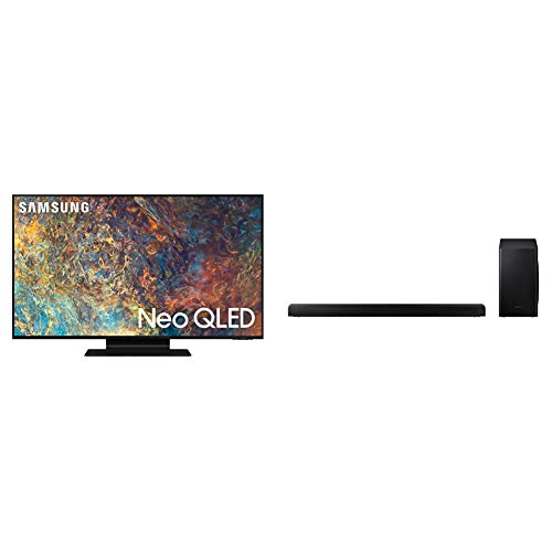 """Samsung Neo QLED 4K 2021 75QN90A - 75"""" Smart TV, Risoluzione 4K UHD, Tecnologia Quantum Matrix, Processore Neo QLED 4K con IA, Quantum HDR, OTS+ + Soundbar HW-T650/ZF da 340 W, Nero"""
