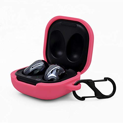 2020 Galaxy Buds Live Case Cover, Shock Dust Proof Silicone Protective Covers with Carabiner/Ring Durable Earbuds Case Protector for Samsung Galaxy Buds Live, Full Body Protection