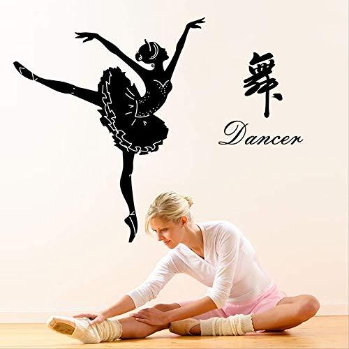 Wandaufkleber Ballett Silhouette Scheren Schneiden Klassenzimmer Schlafzimmer Wand Dekorativer Wandaufkleber 154 X 135Cm