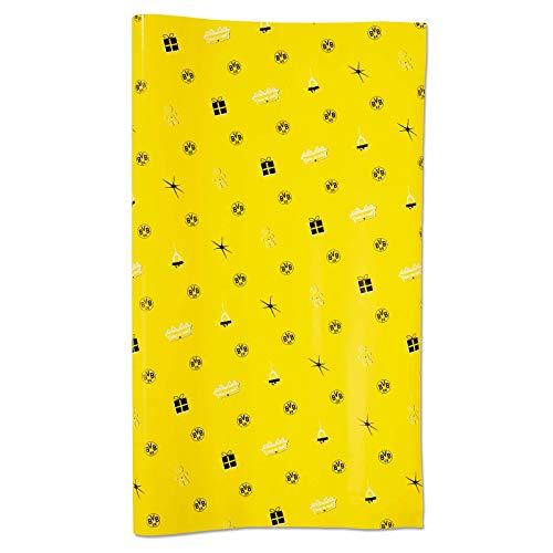 Borussia Dortmund BVB-Weihnachtsgeschenkpapier Dekoration, gelb, one Size