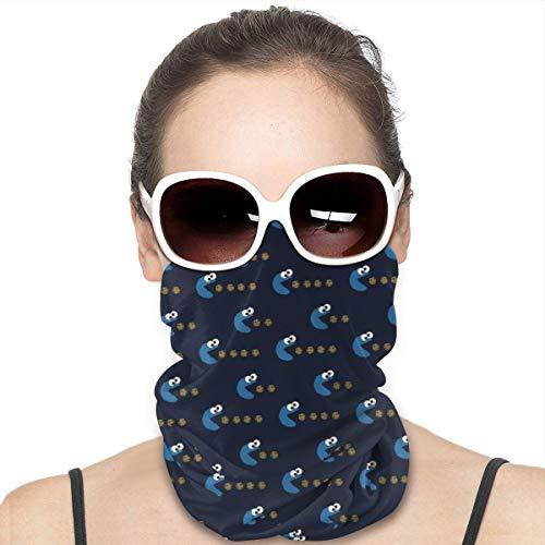 Homect Krümelmonster-Gesichtsmaske, Kopftuch, Schal, für Damen und Herren