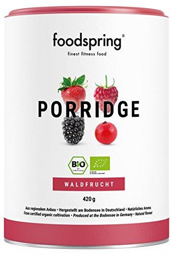 foodspring Porridge proteico, Orgánica Frutas del Bosque, 420g, Desayuno para estar en forma