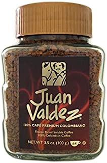 6 PACK Juan Valdez Freeze Dried Colombian Premium Coffee/Cafe Colombia