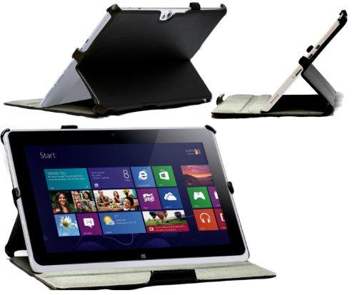Navitech Multi Stand schwarzes bycast Leder Case/Cover für das Acer Iconia W510 / W511 / W510p W5 Windows RT