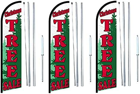 christmas Tree sale Windless banner Flag 3 Import depot pack of Complete With