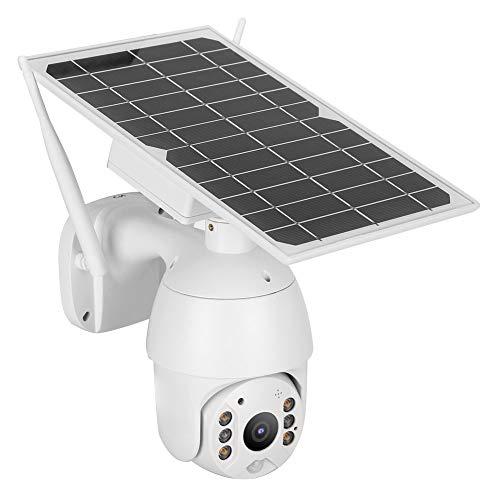 T angxi 4G PTZ Telecamera Solare, HD 1080P 4G Telecamera di Sorveglianza di Sicurezza Esterna con Visione Notturna a Infrarossi + Allarme Sensore del Corpo Umano, Citofono Bidirezionale