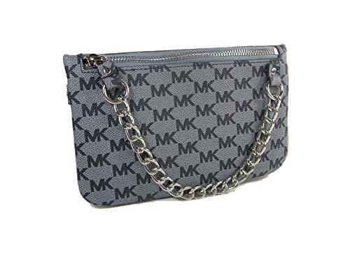 "New Michael Kors Logo Fanny Pack Belt Wallet Size Large 35-39"" Waist Purse Gray"
