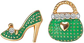 European Style Bag High-Heeled Shoes Stud Earring Scented Earrings All-Match Originative Personality Ear Ornaments Jinlyp (Color : 02Green5248)