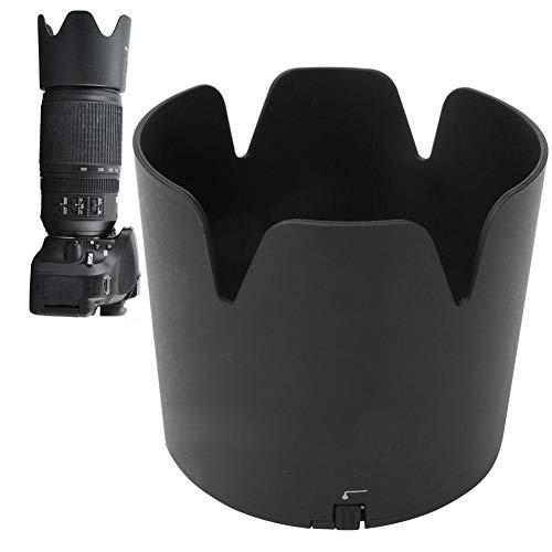 Bindpo HB-65 Gegenlichtblende, Kameraobjektiv Sonnenschutz Regenschutz Abdeckung Ersatz für Nikon AF-S Nikkor 80-400 mm 1: 4,5-5,6 G ED VR