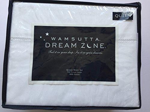 Wamsutta Dream Zone Queen Sheet Set, White, 750 Thread Count