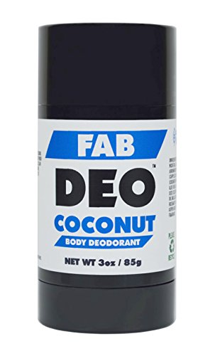 FabDeo COCONUT Natural Deodorant 3 oz - Vegan and Cruelty Free - No Sulfurs or Heavy Metals - America's Favorite