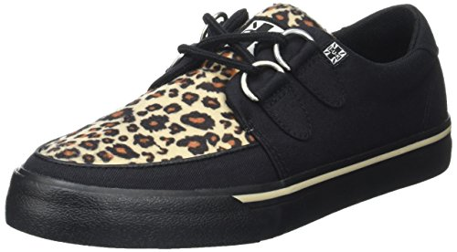 T.U.K. Herren VLK D Ring Creeper Sneaker BLK High-top, Schwarz Black Leopard Canvas Black Leopard Canvas, 38 EU