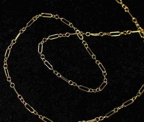 Shimmer 14Kgf Open Link New Orleans Mall Chain 6 for Jewelry Special price for a limited time inches Making 10332