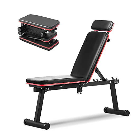 Wesfital Adjustable Weight Bench Workout Bench Strength Training Bench Foldable Weight Bench Incline Bench Exercise Bench For Home Gym