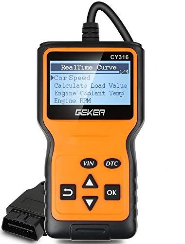 GEKER OBD2 Diagnosi per Auto Automative codici OBD II scanner diagnostico strumento per motore auto lettore di codice di errore