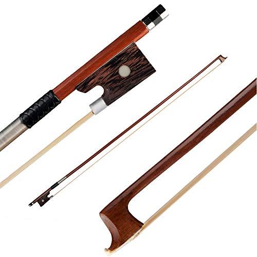 RuleaxAsi Profissional 4/4 Violino Arco Violino Bem Equilibrado Rodada Brasil Bowstick Madeira Pau Rosewood Sapo Exquisite Crina de Cavalo