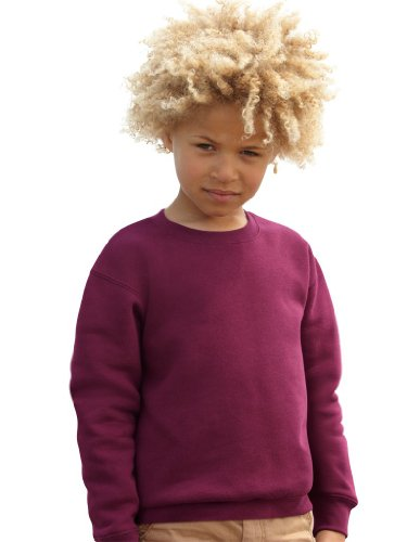 Fruite of the Loom Kinder Sweatshirt, vers. Farben 104,Burgund