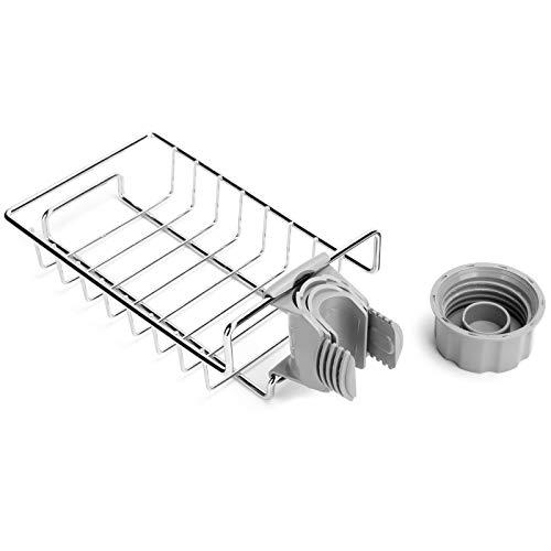 Presente DiferentePrateleira de torneira, prateleira multifuncional prateada para cozinha para banheiro para cozinha para família para casa