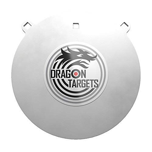 Dragon Targets AR500 Steel Targets for Shooting 3/8 Inch or 1/2 Inch Thick Laser Cut, 12', 10', 8', 6', or 4' Sizes Painted AR500 Gong Targets for Shooting, Steel Targets Made in USA