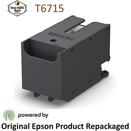 Epson T6715 Ink Maintenance Box Repackaged by OneMoreBuck for Epson Workforce Pro WF 4720, WF 4730, WF 4734, WF 4740, EC 4020, EC 4030, EC 4040, WF C5210, WF C5290, WF C5710, WF C5790