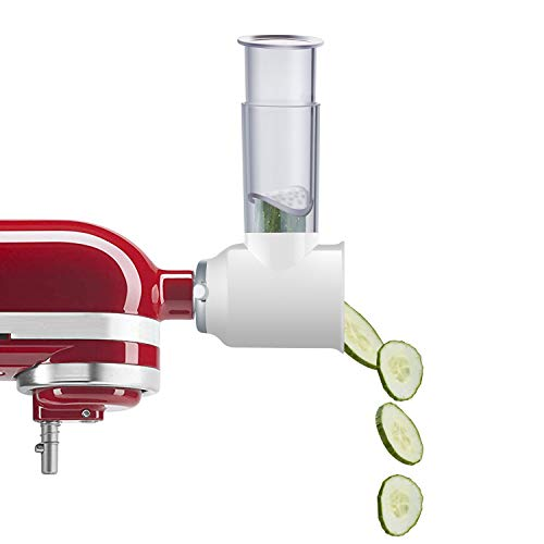 Gvode Slicer/Shredder Attachment for KitchenAid Stand Mixers as Vegetable Chopper Accessory Salad Maker