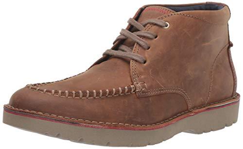Clarks Men's Vargo Apron Ankle Boot, Dark Tan Leather, 10