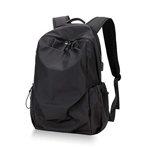 LLTT Mode Homme Sac à Dos for Ordinateur Portable 15.6inch Sac à Dos Sac à Dos étanche Hommes extérieur Voyage Sac d'école chez Les Adolescentes (Color : Black, Size : 15inch)