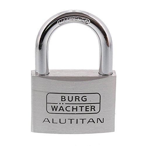 BURG-WÄCHTER Vorhangschloss Alutitan, Aluminium, Innenwerk rostfrei, Doppelt gesichert, 770 60 SB