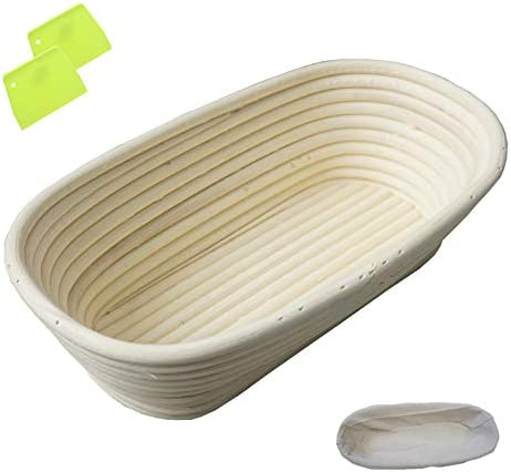 Nevosoo Oval Super-cheap Popular standard Bread Proofing Banneton Basket Handmade Bro