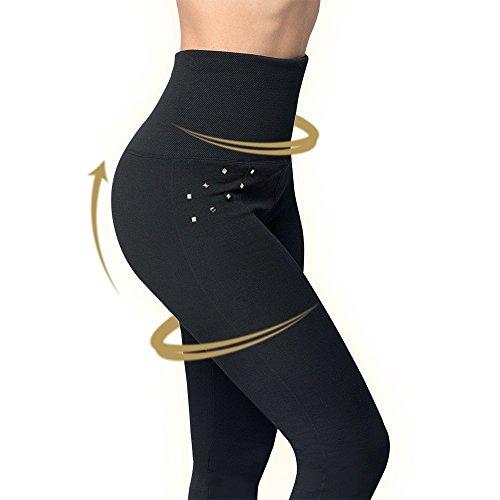 Mediashop Hollywood Pants | 3 Bodyformer Hosen in Größe: L | schwarz | 3 Designs | Shapewear Leggins | hoher Bund für flachen Bauch, optisch längere Beine und knackigen Po | Das Original aus dem TV - 5
