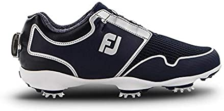 FootJoy Women's Sport TF Boa Golf Shoes, Black/White, 7 M US