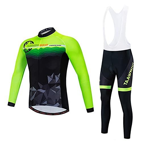 NAXIAOTIAO Ciclismo para Hombres, Pantalones Cortos De Babero Trajes De Ciclismo Ciclismo Clásico Jersey Race Fit con Gel Acolchado Race Bike Ride,B,XXL