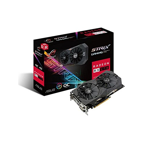 ASUS AMD Radeon ROG-STRIX-RX570-4G-GAMING Grafikkarte (AMD, PCI-E 3.0, 4GB GDDR5 Speicher, 1xHDMI, 2xDVI, 1xDisplay Port)