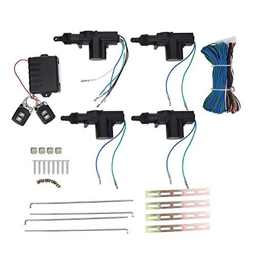 EBTOOLS Kit chiusura centralizzata Sistema di chiusura centralizzata con ingresso, porta universale per auto Sistema di chiusura centralizzata con serratura senza chiave con dispositivo