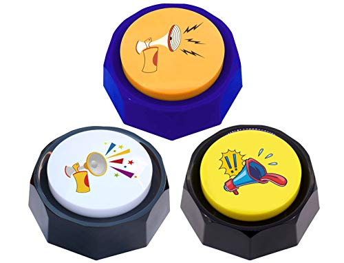 RIBOSY Set of 3, Air Horn Button - DJ Horn Sound Effect - Funny Gag Gifts - Noise Maker (Battery Included)