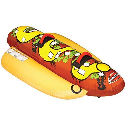 Sportsstuff Hot Dog 2 | 1-2 Rider Towable Tube for Boating