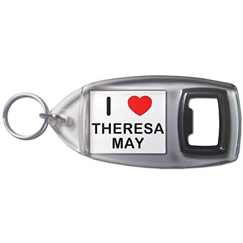 BadgeBeast.co.uk I love Theresa May - Llavero abridor de botellas de plástico