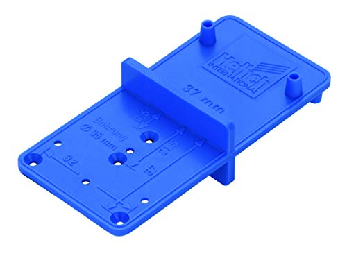 Hettich 9220193 Anreißschablone (Ankörnschablone) MultiBlue-für Topfscharnier mit ø 26 und 35mm-Kunststoff, 1 STK, Blau