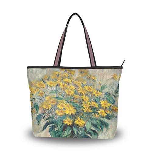 Emoya Damen Handtasche Monet Sonnenblumen oben Griff Tasche groß, Mehrfarbig - multi - Größe: Medium