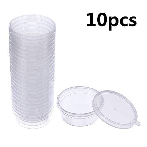 Kentop 10PCS Slime Aufbewahrungsbehälter Slime Box Behälter, Floam Beads Behälter aus Schleim auslaufsichere klarem Kunststoff Aufbewahrungsschleim mit Deckel